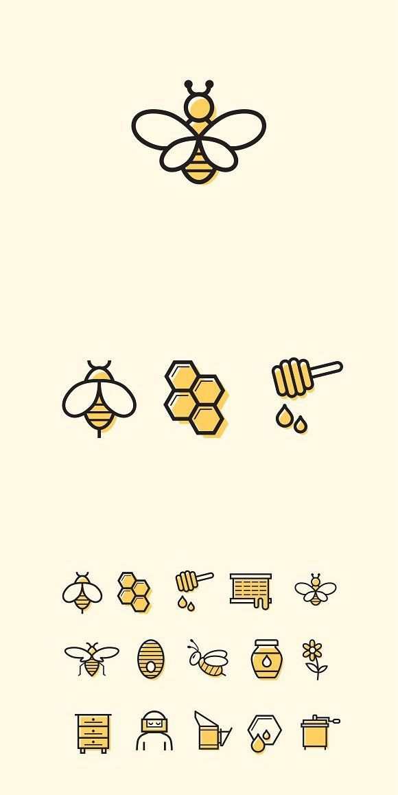 15 Bee and Honey Icons – #Bee #Honey #icon #Icons