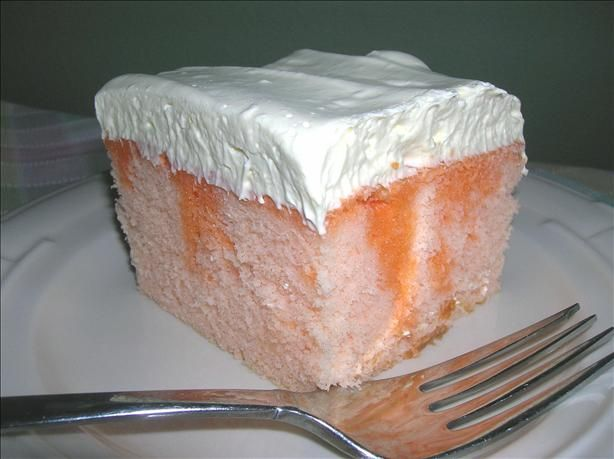 Everyone loved this, although I never did find orange cake mix.  I just added orange flavoring and dye to a white mix and no one was the wiser!