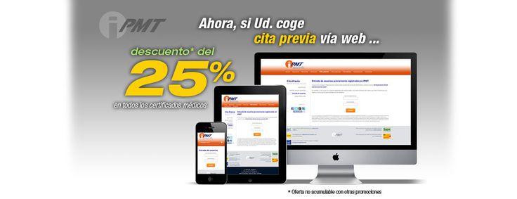 25% de descuento si reservas tu cita a través de nuestra web www.ipmt.es  Certificados médicos. Renovar carnet conducir Valencia. IPMT - Centro Médico - Tel. 963623278