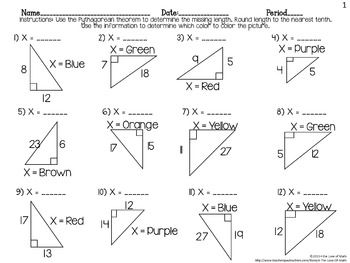 50 best coordinate algebra pythagorean theorem images on pinterest math classroom teaching. Black Bedroom Furniture Sets. Home Design Ideas