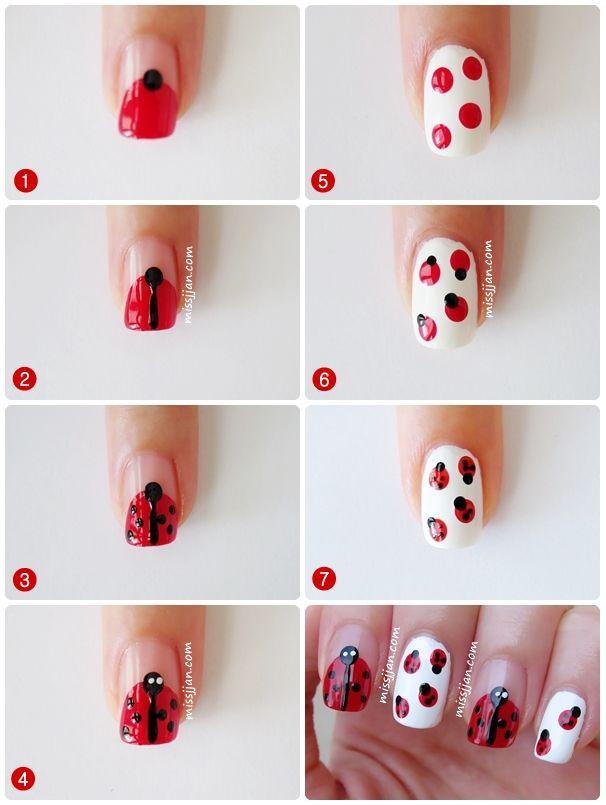 MissJJan's Beauty Blog ♥: Ladybug Nail Art