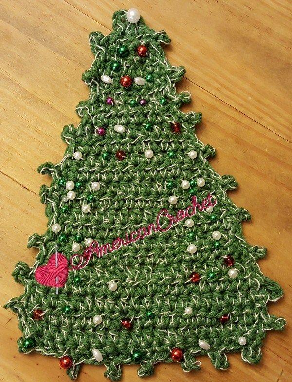 Christmas Tree Coaster Free Crochet Pattern American Crochet Americancrochet Com Crochet Christmas Trees Crochet Coasters Free Pattern Christmas Coasters