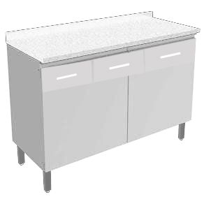 gabinete reformado / branco tampo mármore sintético