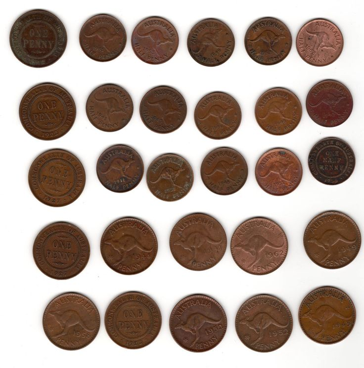 Lot of 15 Australia Half Pennies & 13 Penny Some Higher Grade incl 1952-A & KGV