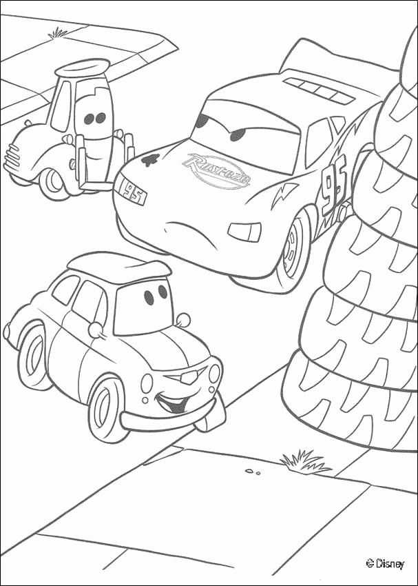 Easy Lightning Mcqueen Coloring Pages
