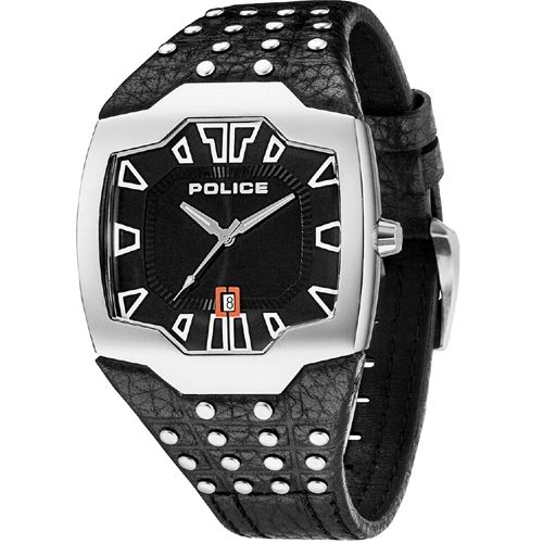 Police Beast PL.13634JS/02 Mens Watch 4895148627969      	Stainless steel case, silver colored coating, polished  	Leather strap, black, pin buckle  	Quartz movement, battery operated  	Date display  	5 ATM Water Resistant  	Case width ca. 45 mm      Comes with booklet and box.    MSRP: 169,00 EUR | Shop this product here: http://spreesy.com/vampire_clothing/28 | Shop all of our products at http://spreesy.com/vampire_clothing    | Pinterest selling powered by Spreesy.com