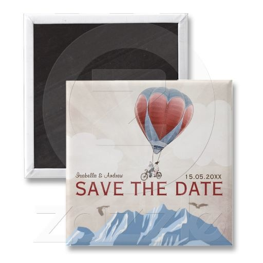 TANDEM LOVE DREAM  Wedding Save the Date Fridge Magnet