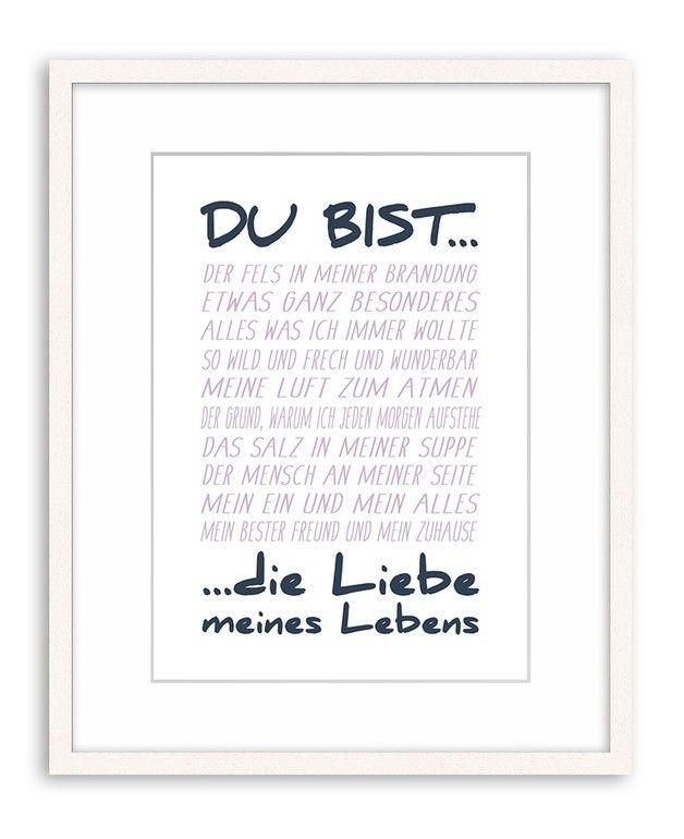 Poster Kunstdruck Plakat Spruch Liebe Print Typo