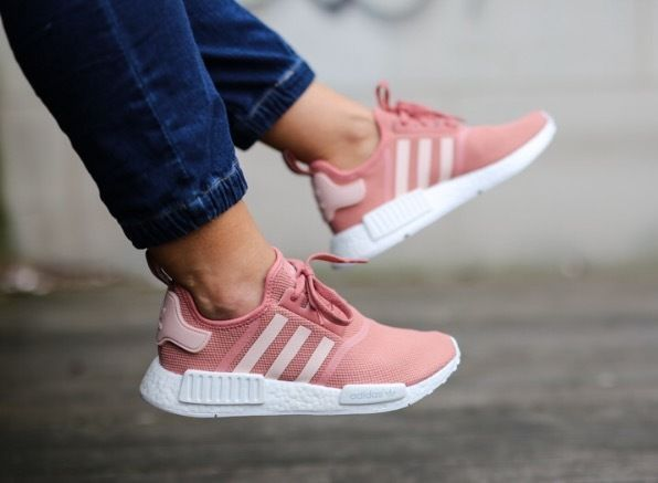 new women 39 s adidas nmd r1 runner raw pink rose salmon. Black Bedroom Furniture Sets. Home Design Ideas