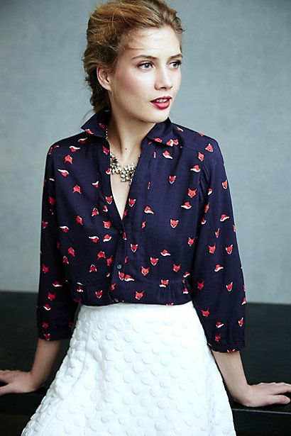 Woodland Walk Buttondown - anthropologie.com