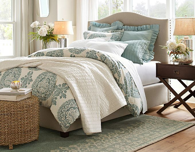Find This Pin And More On Room By Room Master Bedroom Pottery Barn Bedroom Decorating