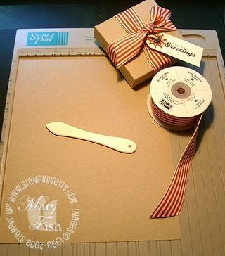 Mini Pizza Box Tutorial - Stampin' Up! Demonstrator - Mary Fish, Stampin' Pretty Blog, Stampin' Up! Card Ideas & Tutorials