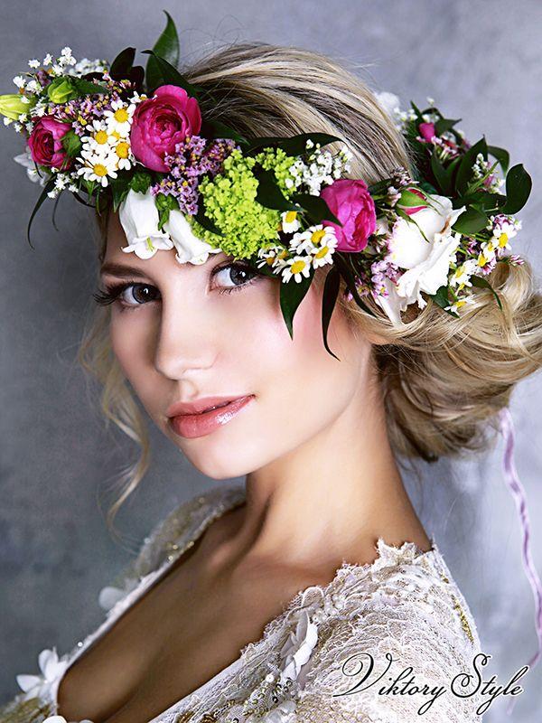 Фотосессии с цветами на голове москва