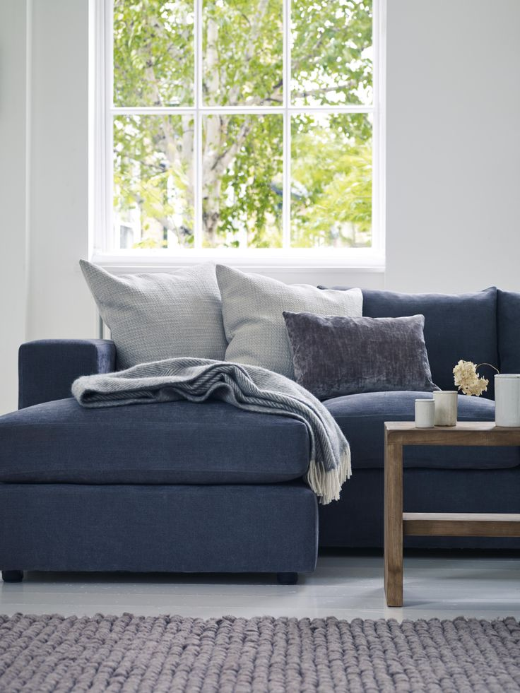Rafts Manhattan Sofa With Chaise Grey And White Living