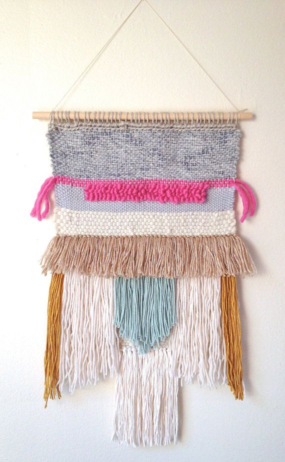 Woven tapestry colorful wall hanging modern home Fringe