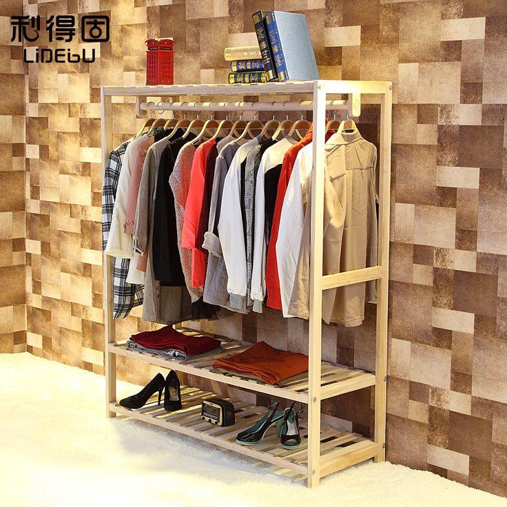 el nuevo alta calidad madera tienda de ropa vintage de