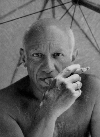 Picasso: portrait of Picasso by Willy Maywald