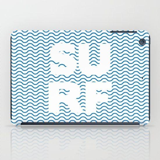 SURF iPad Case by Fimbis | Society6 water, wavy, ocean, surfing, surfer, surfboard, sea, ocean, summer, beach, iPad mini, design, fashion,
