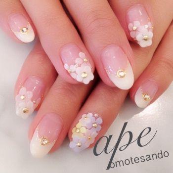 Spring flower nails