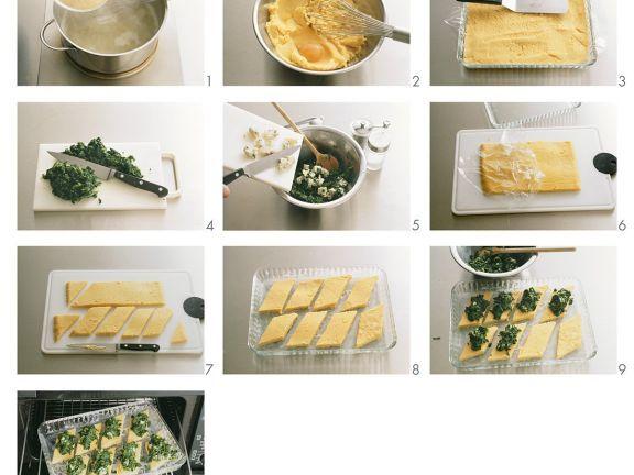 Polentaschnitten mit Spinat zubereiten ist ein Rezept mit frischen Zutaten aus der Kategorie Blattgemüse. Probieren Sie dieses und weitere Rezepte von EAT SMARTER!