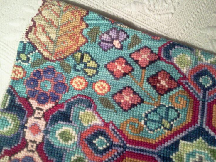 Detalle tapiz punto cruz