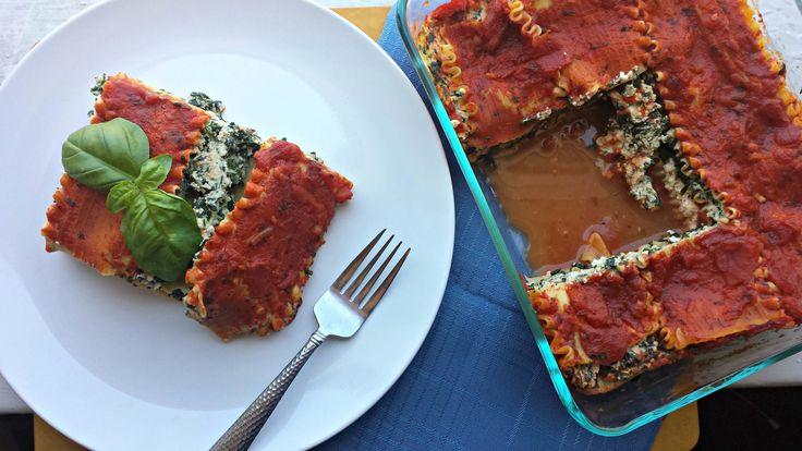 Tofu-Spinach Lasagne