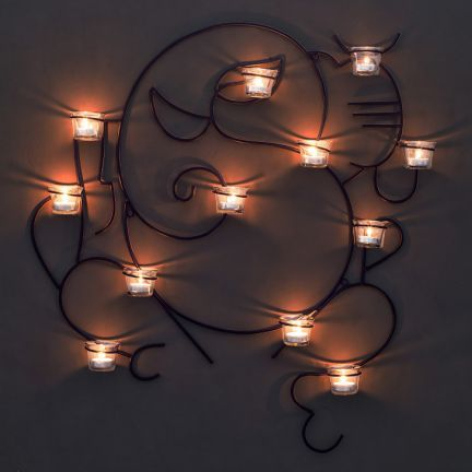 Shaz Living Ganesha Wall Candle Holder With 12 Votives   Buying Wall Decoration  Items Like This