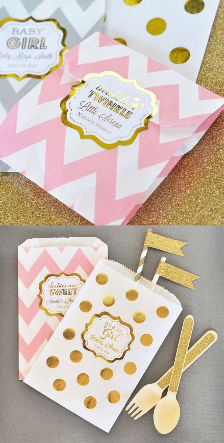 Twinkle Twinkle Baby Shower Favor Bags Pink
