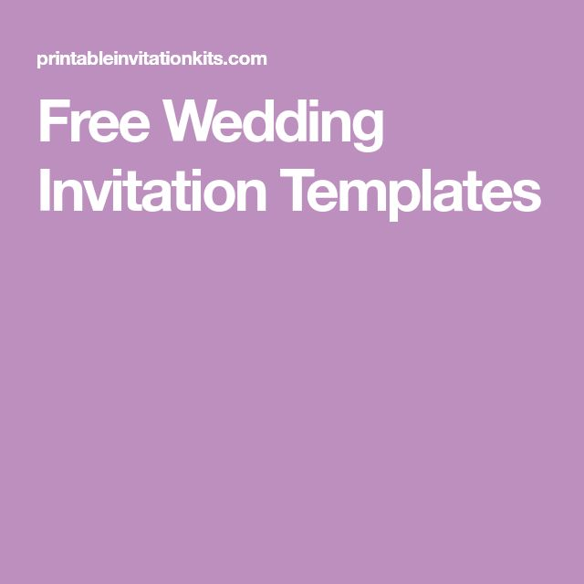 The 25+ best Free invitation templates ideas on Pinterest Diy - free birthday invitation templates for word