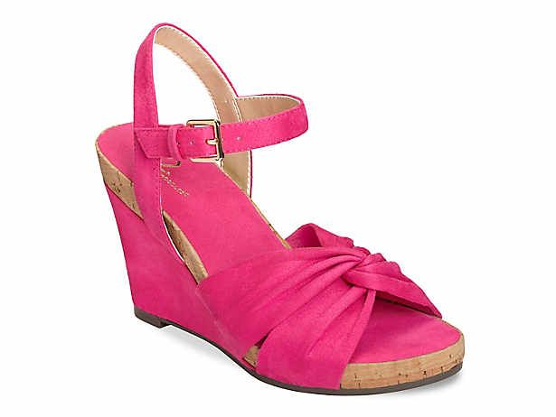 Womens sandals wedges, Pink wedge shoes