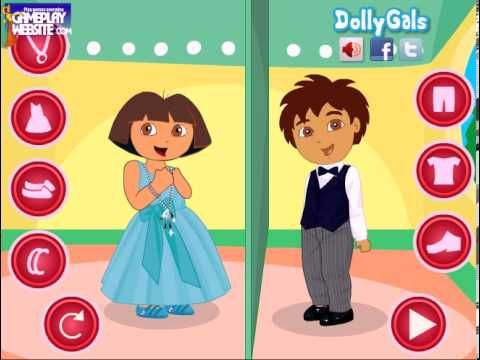 Dora Exploradora - exploradora episodios en Español para Niños capitulos - Dora dress-up game - YouTube