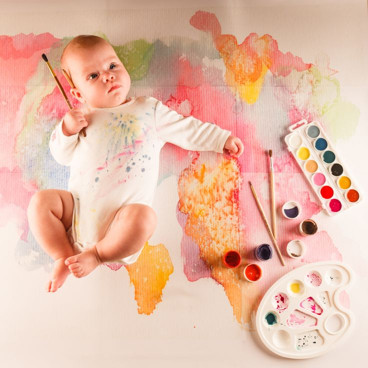 дочка, акварель, ребенок, художник, рисунок