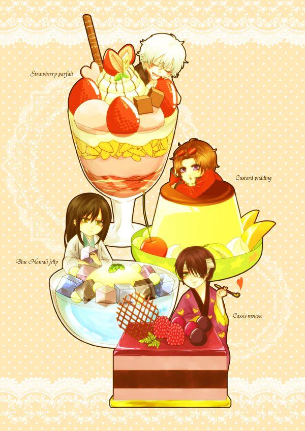 Pixiv Id 1742502, Gin Tama, Takasugi Shinsuke, Sakata Gintoki, Sakamoto Tatsuma, Katsura Kotaro
