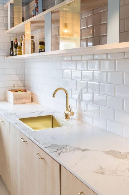 Dekton Aura benchtop keuken marmer kast koper keukenblad interieur