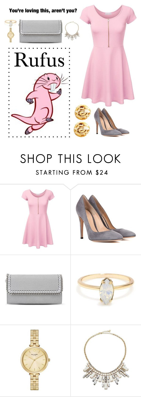 """Rufus from Kim Possible"" by oliviagsu ❤ liked on Polyvore featuring Gianvito Rossi, STELLA McCARTNEY, Kate Spade and ABS by Allen Schwartz"