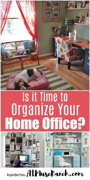 Is it Time to Organize Your Home Office? - Wondering how to organize a home office? I've rounded up some easy and efficient ideas whether you have a whole room to work with or a tiny space.