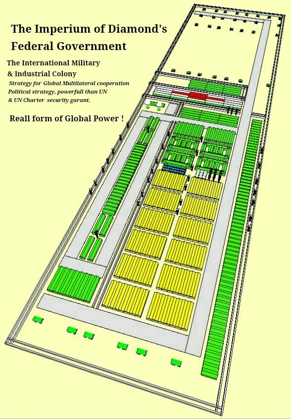 The ID's Diamond Oasis (North East Africa Bir Tawil), International military & industrial colony.