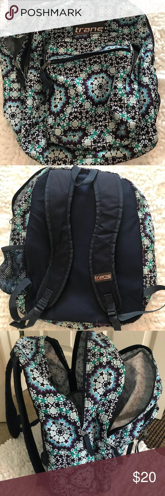 trans by Jansport backpack 🎒 Shop my daughters closet… Trans by Jansport   Backpack 🎒.    Multicolored Backpack in like new condition. Sizing is shown on the photos. Is a very spacious bag. Jansport Other