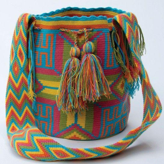Wayuu mochila 828 Unicas en moflys.com!!