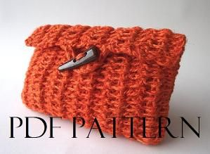 CROCHET BAG PATTERN Clutch Bag Pouch Bag Crochet Purse Bag pdf pattern by Lilia Vanini