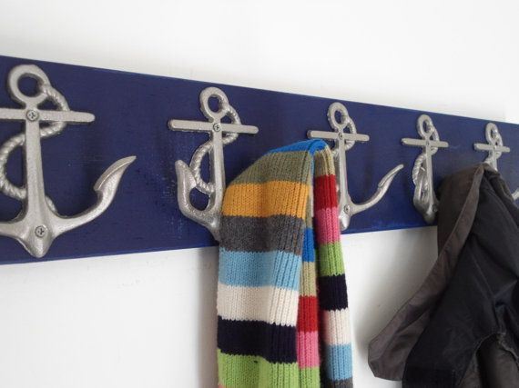 5 anchor wall hooks sailor boat cabin beach decor by riricreations ($ 50) |Pinned from PinTo for iPad|