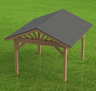 Do it Yourself Spa Enclosure Gazebo Plans - 10' x 12'