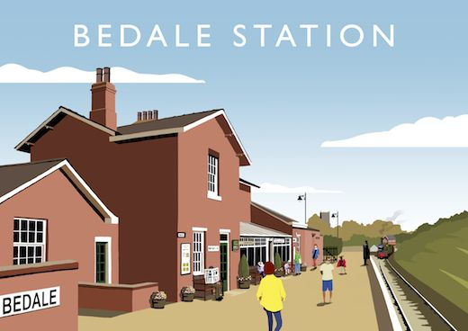 Bedale Station Art Print