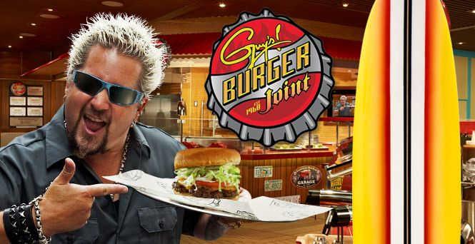 Take a big, juicy bite of the best burgers at sea, brought to you by none other than celebrity chef Guy Fieri and — who else — Carnival.