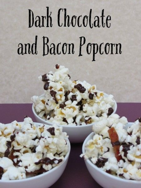... Chocolate and Bacon Popcorn is a decadent treat with dark chocolate