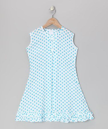 Take a look at this Blue Polka Dot Bow & Ruffle Sundress - Infant, Toddler & Girls by Vintage Circus on #zulily today!