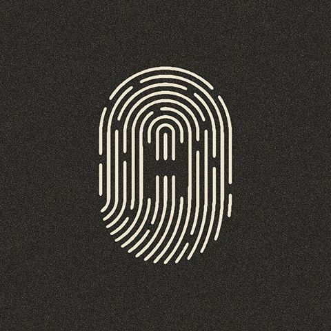 I like the use of lines put together in order to represent something else, in this case a fingerprint