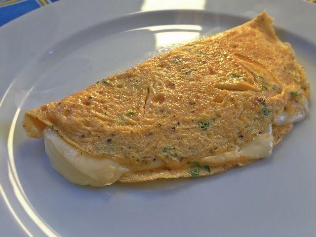 Da Panela para o Coração : Omelete de queijo e salsa