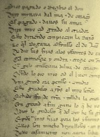 The Cantar de Mio Cid (Song of my Cid) is the earliest Spanish text.
