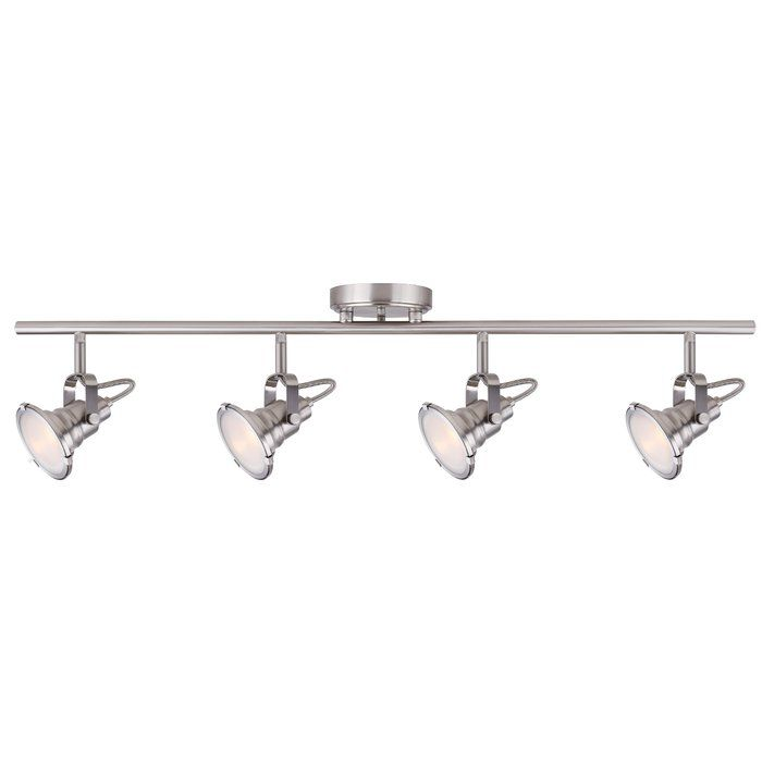 The Track Lighting has side clips which gives a slight industrial feeling while keeping the tech track look.
